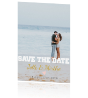 Strak save the date trouwen